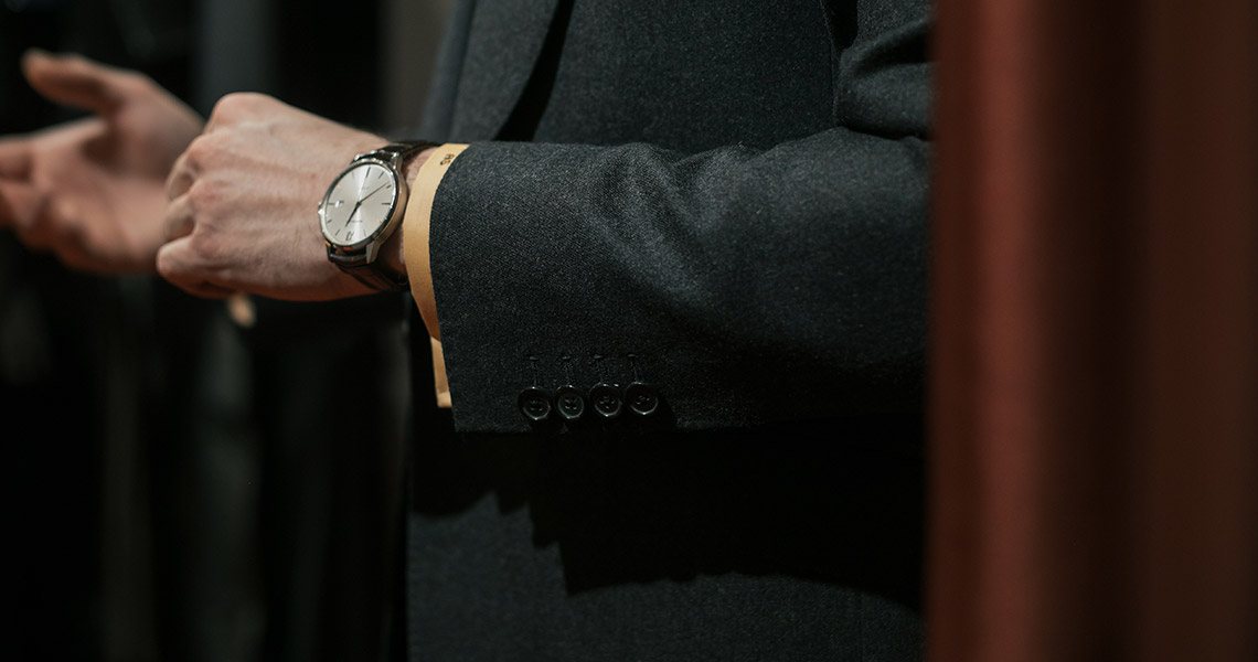 Different Button Styles on Jacket Sleeves